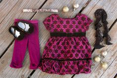 Sweet Snowflake Dress from American Girl-Styled with Sparkly Accessories