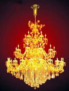 iron golden finish large crystal chandelier ESLC0007 - Large Chandelier - Chandeliers - Eshine Large Chandeliers, Ceiling Lights, Lighting, Home Decor, Decoration Home, Light Fixtures, Room Decor, Ceiling Lamp, Lights