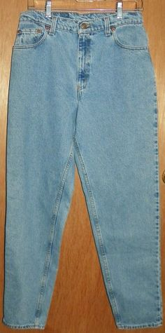Vintage Levis Womens 550 Relaxed Fit Tapered Leg High Waist Denim Jeans 13  Long  Levis aaab5a7867