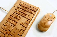 Bamboo Keyboard and Mouse!