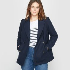 With Women's duffle coats from La Redoute, you can be ready for the weather in classic French style! Blazer, Wool, Boutique, Style, Fashion, Woman, Farmhouse, Jacket, Womens Fashion