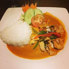 A red curry at Tarn Thai | You enter to a koi pond, ceiling-high floral artwork and opulent leafy surroundings. Is it a spa? No, it's a restaurant, and a good one too. Their red curry is consistently impressive. A favourite for celebrations. 17 Things Everyone Has To Eat In Nottingham