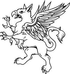 Gryphon.    http://www.heraldry.ca/kids_en/kids_images/CP_griffin.gif