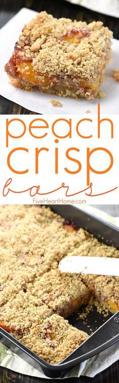 Peach Crisp Bars