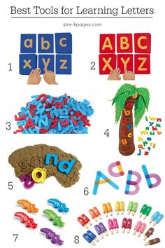 Best Hands-On Tools for Learning Letters of the Alphabet in Preschool and Kindergarten. Make learning FUN for kids with these hands-on materials that will help them learn to identify letters of the alphabet!