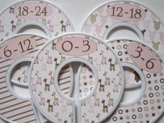 5 Custom Baby Closet Dividers Clothes by WatchMeGrowStickers, $15.00
