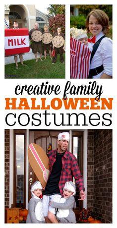 Creative family Halloween costumes. So many great ideas!