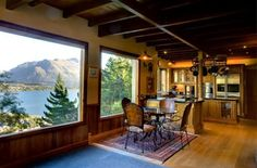 This seven-bedroom house in Queenstown, New Zealand, with lake and mountain views has been used as a bed and breakfast for the past decade. Mountain View, Luxury Real Estate, Bed And Breakfast, My Dream Home, New Zealand, Flooring, Architecture, Interior, Prints