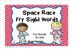 Space Race is a fun literacy center sight word game that uses Fry's 2nd hundred words. These are words 101-200. If children land on the alien they go back to start for a fun twist that will have them wanting to play again and again.