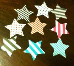 25 piece Assorted Shape N Tape Stars by creativedesigncorner, $4.00