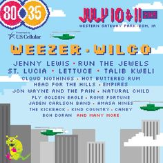Iconic bands Weezer and Wilco will play it loud when they headline 80/35 2015, Friday, July 10 and Saturday, July 11 in downtown Des Moines. They'll be joined by Jenny Lewis, Run The Jewels, St. Lucia, Lettuce, and dozens more during two days of continuous play with more than 50 acts.