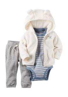 Carters Gray 3-Piece Little Jacket Set