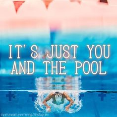 It's just you and the pool. #swimming