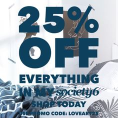 25% off on everuthing on my @society6 shops with code LOVEART25  https://society6.com/originalaufnahme https://society6.com/betterhome https://society6.com/simplicity_of_live  #society6 #sale #buyart #homedecor #fashion #duvet #pillow #design
