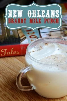 The perfect breakfast cocktail! New Orleans Brandy Milk Punch Cocktail Recipe from AlwaysOrderDessert.com