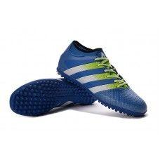 the best attitude d28f6 e890b Adidas ACE 16.3 Primemesh TF Choque Azul Semi Solar Lodo Branco barato  sapatos de futebol Adidas