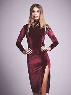 FP Velvet Alba Dress | red