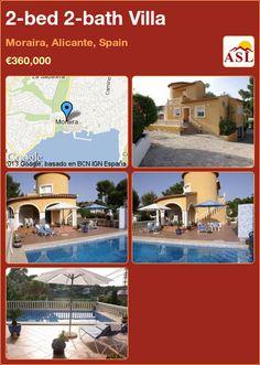 2-bed 2-bath Villa in Moraira, Alicante, Spain ►€360,000 #PropertyForSaleInSpain