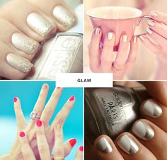 glam wedding nail ideas #manicures