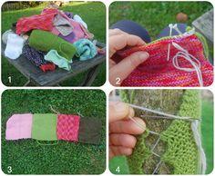 Le yarn bombing, c'est quoi? Comment faire son premier yarn bombing au jardin. DIY Kameleon Factory