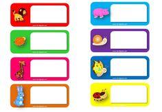 Modelos de etiquetas escolares para descargar