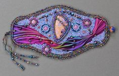 bracelet beadwork bracelet beadwork cuff by thesilverviolet