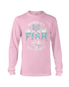 Happiness is A Big Fish And A Witness T-Shirt - Light Pink #firefighter #DIY #crafts fishing hook tattoo, fishing hook illustration, fishing hook logo, back to school, aesthetic wallpaper, y2k fashion Hook Tattoos, Fishing World, Big Fish, Print Store, Graphic Sweatshirt, T Shirt, Firefighter, Aesthetic Wallpapers, Back To School