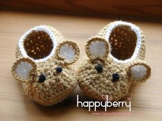 Crocheter des chaussons de bébé Mulot petit modèle (fichier PDF)