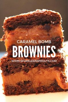 Caramel Bomb Brownie