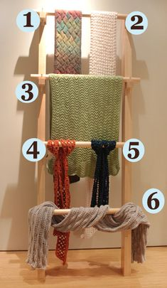 This does not look difficult -  Scarf and Shawl Rack