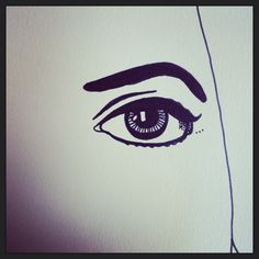 Drawing by Anne Marie Price www.ampriceart.com #AMP #drawing #eye #face #ampriceart #drawing #pen