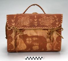Treasure of the week from the Pequot Museum-Birchbark bag by Edmond Dube, Attikamek Nation ^mv