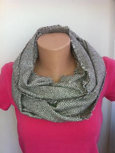 Brown Beige Wool Tweed Blend Long Scarf Handmade by ScarfAngel, $19.00