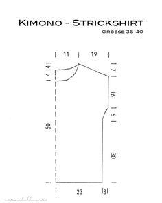 Kimono knit shirt - Instructions (naturally creative) Dear Ones, today I would like to provide you with the instructions for my knit shirt. It is a simple knitting project, a. Easy Knitting Projects, Knitting For Beginners, Knitting Designs, Crochet Tunic Pattern, Crochet Stitches Patterns, Knitting Patterns, Crochet Cover Up, Easy Crochet, Knit Crochet