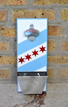 Chicago Flag Wall Bottle Opener by LoPoCreation on Etsy
