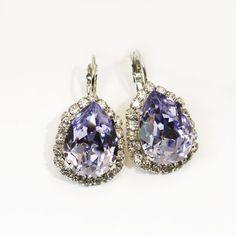 Light Blue Light Sapphire Chandelier Earrings Drop by TIMATIBO, $46.00