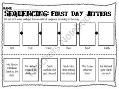 Sequencing worksheet interrupting chicken ideas for for First day jitters coloring page