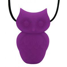 Jellystone Designs Silicone Pendant- Purple Grape Owl