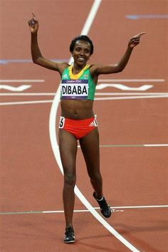 London 2012 - Women's 10000m final - winner Tirunesh Dibaba of Ethiopia