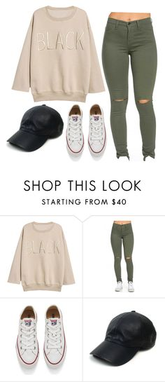 """""""Untitled #182"""" by kitty27-04 ❤ liked on Polyvore featuring Converse, Vianel, women's clothing, women, female, woman, misses and juniors"""