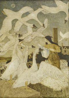Arthur Joseph Gaskin (English, 1862-1928). The Wild Swans. 1928.