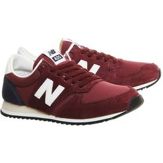 New Balance supplied by Office New Balance u420 Trainers (€74) ❤ liked on Polyvore featuring shoes, sneakers, leather sneakers, real leather shoes, new balance footwear, genuine leather shoes and new balance