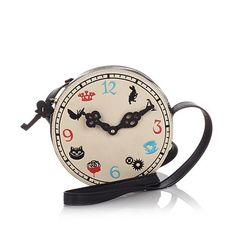 Keep your own time, all the time, with the cutest crossbody from Danielle Nicole, inspired by Alice Through The Looking Glass! Where would you wear this fashionable timepiece?