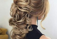 formal hairstyles for long hair updo formal hairstyles updo classy formal hairstyles updo Long Hair Wedding Styles, Front Hair Styles, Wedding Hairstyles For Long Hair, Formal Hairstyles, Up Hairstyles, Curly Hair Styles, Hairstyle Ideas, Gorgeous Hairstyles, Bridal Hairstyles