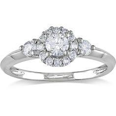 Miadora 14k White Gold 1/2ct TDW Diamond Engagement Ring (G-H, I1-I2) 746.99 @ overstock