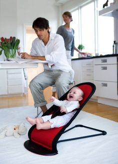 Amazon.com : Babybjorn BabySitter Balance, Black/Red : Infant Bouncers And Rockers : Baby