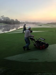 darrenjdavisgcs:  The three acres of tees at Olde Florida Golf Club are cut with walk-behind 21 inch real units. The frequency of cut on the tees is dependent upon the growth and amount of play. On average, the tees at Olde Florida are cut five days a week.