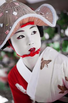 Japan - Maiko dressed up for the Hanagasa Gyoretsu, Gion Matsuri (summer festival), Kyoto