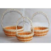Flower girl baskets & Easter basket in orange Storage Baskets, Gift Baskets, Easter Flowers, Flower Girl Basket, Easter Baskets, Laundry Basket, Wicker Baskets, Wedding Ideas, Orange