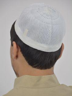 f39ab65b1257f Classic White Cotton Knit Kufi
